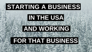 Starting a Business in the USA and Working for that Business