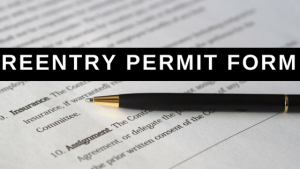 Reentry Permit Form